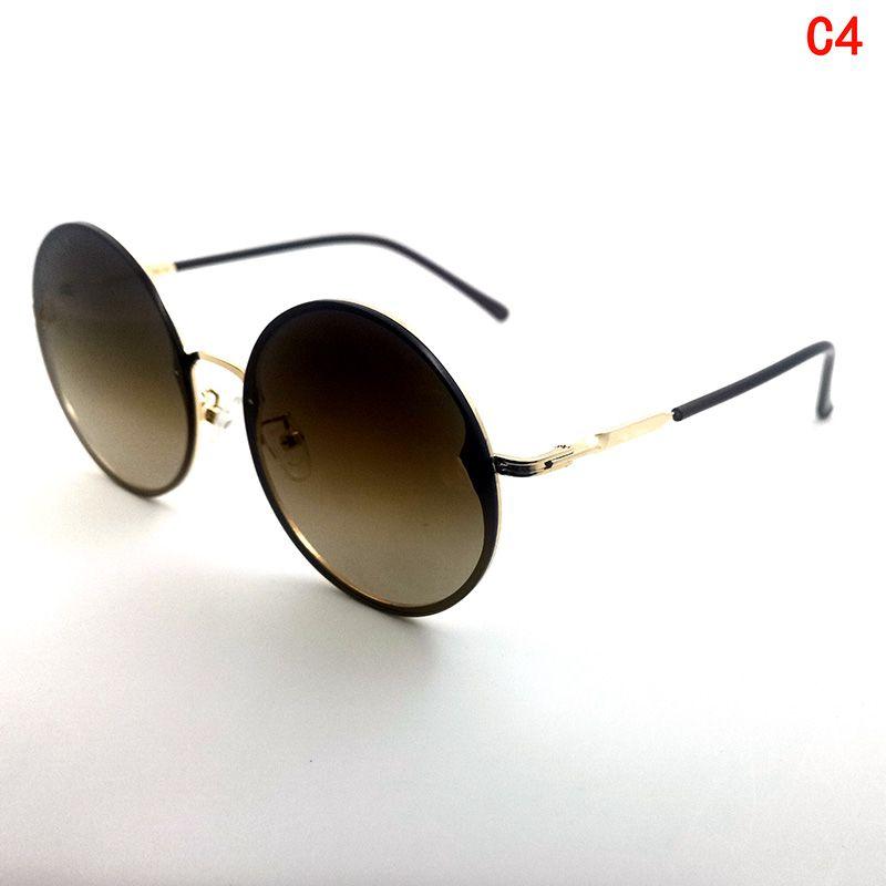 Лучше круглые мужские солнцезащитные очки очки металлические солнцезащитные очки дамы UV400 полная рамка градиентный цвет вождения солнцезащитные очки дизайнер мода ретро