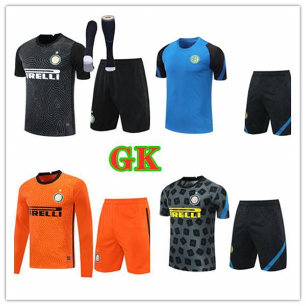 Inter Handanovic goleiro gk futebol jersey kit goleiro manga comprida jersey candreva berni padelli adulto camisa de futebol kits
