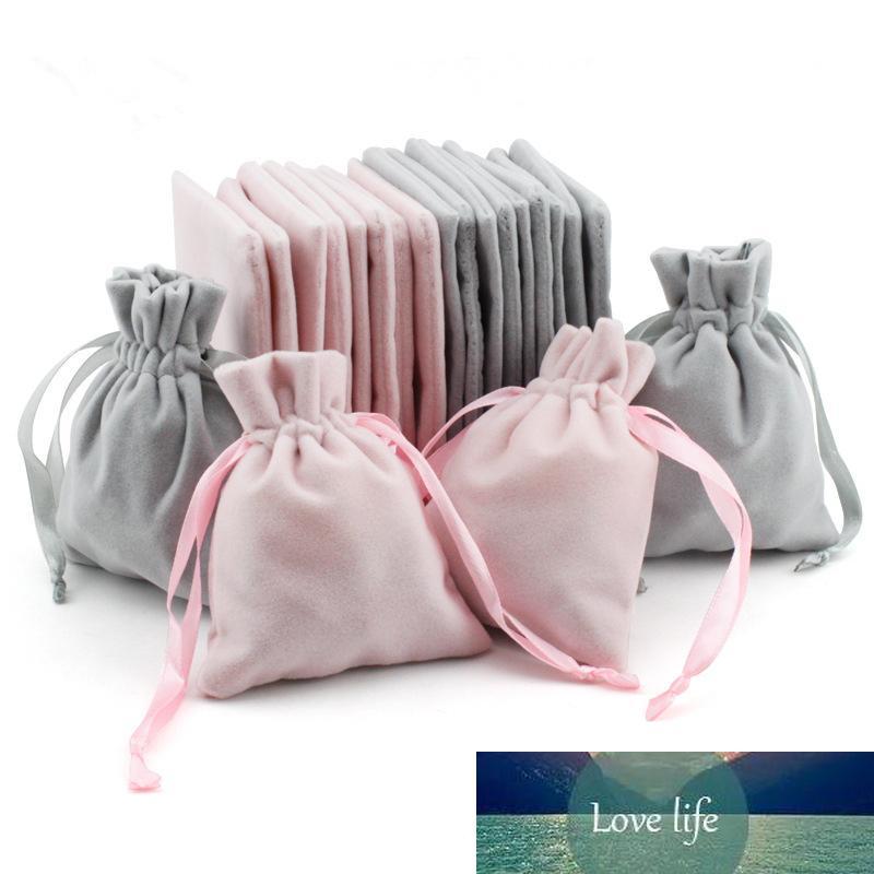 5pcs (8x10cm) Sacs de velours Bijoux Emballage de bijoux Pochettes Sacs-cadeaux Sacs de mariage Favoris Favoris Sacs d'emballage de décoration de Noël