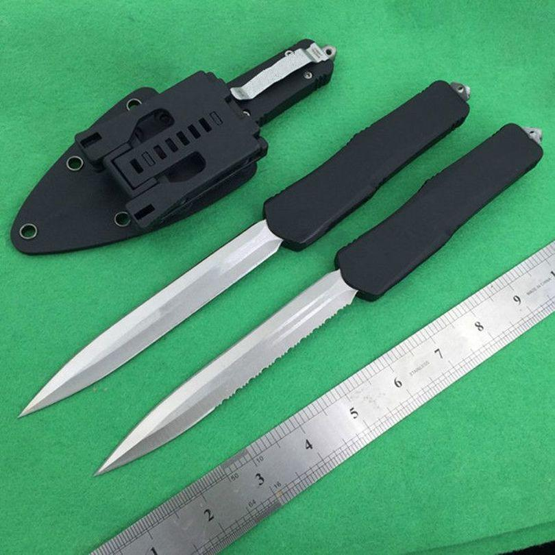 A07 plus long D/E blade double action 3 models Hunting autotf knife folding fixed blade Pocket Knifes Survival Knives Xmas gift