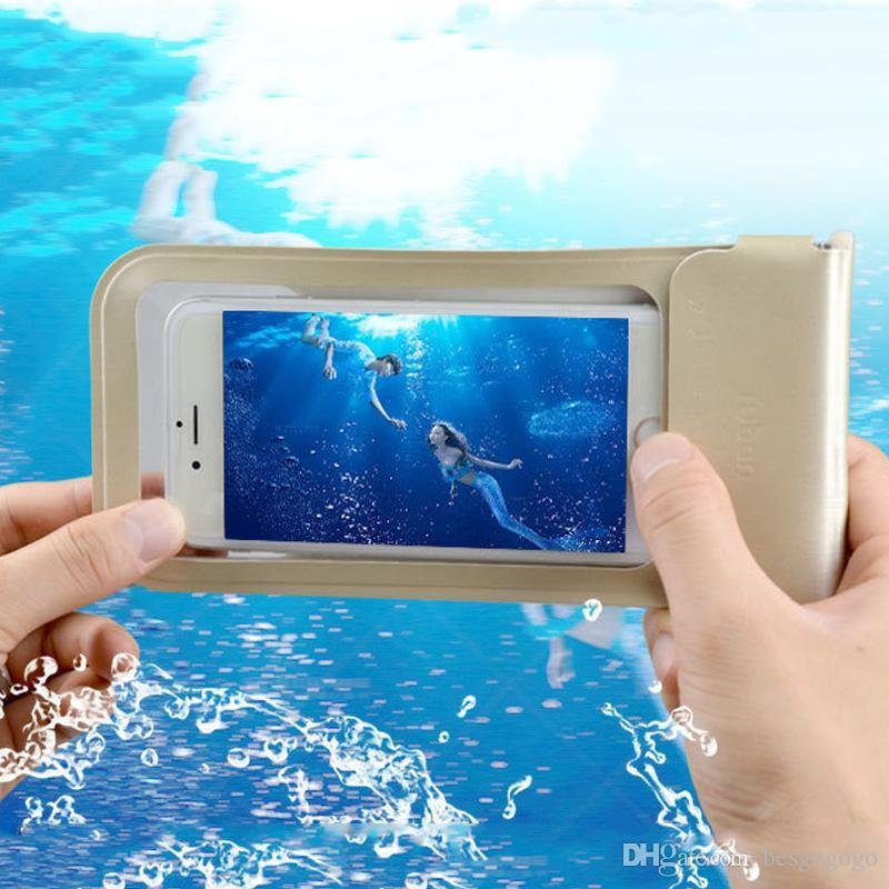 TPU Waterproof Case Bag PU Protective Universal Phone Pouch Dustproof Bags Case Holder Diving Swimming For iphone 7 6 6s plus DBC DH1130