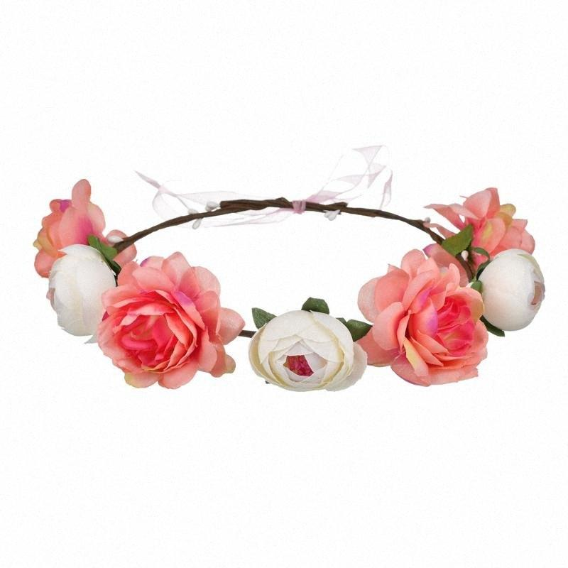 Fashion Bohemian Flowe Deeingband Performance Niños Headwear Garland Show Decoration Headband Garland Nndv #