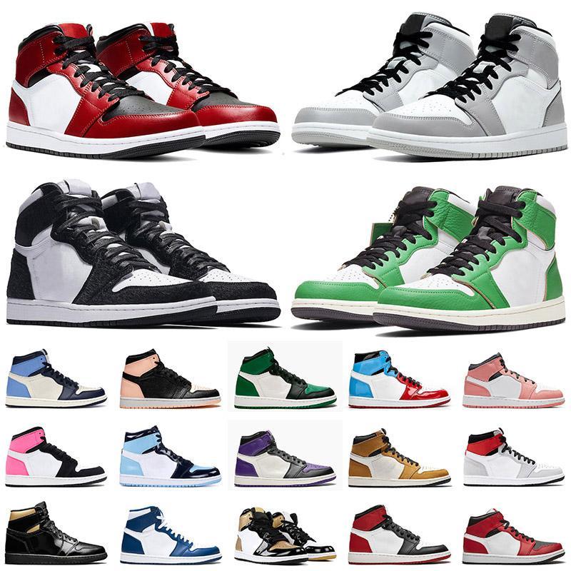 nike air jordan retro 1 1s off white Top 1 1s JUMPMAN TWIST Mid Chicago Toe Zapatillas de baloncesto para hombre Light Smoke Grey Pink Quartz Zapatillas de deporte para mujer