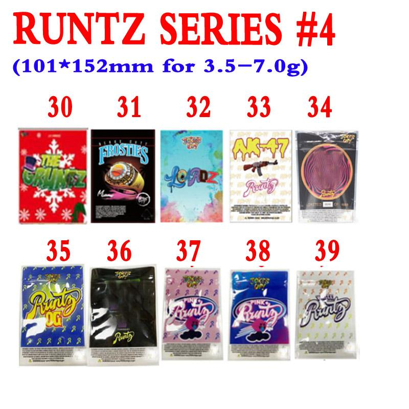Runtz rose blanc vruntz hawaiian Miami Runts Pêche Kobbler Sacs à odeur 420 Fleurs d'herbe sèche 3,5g 420 Emballage Sacs MyLar