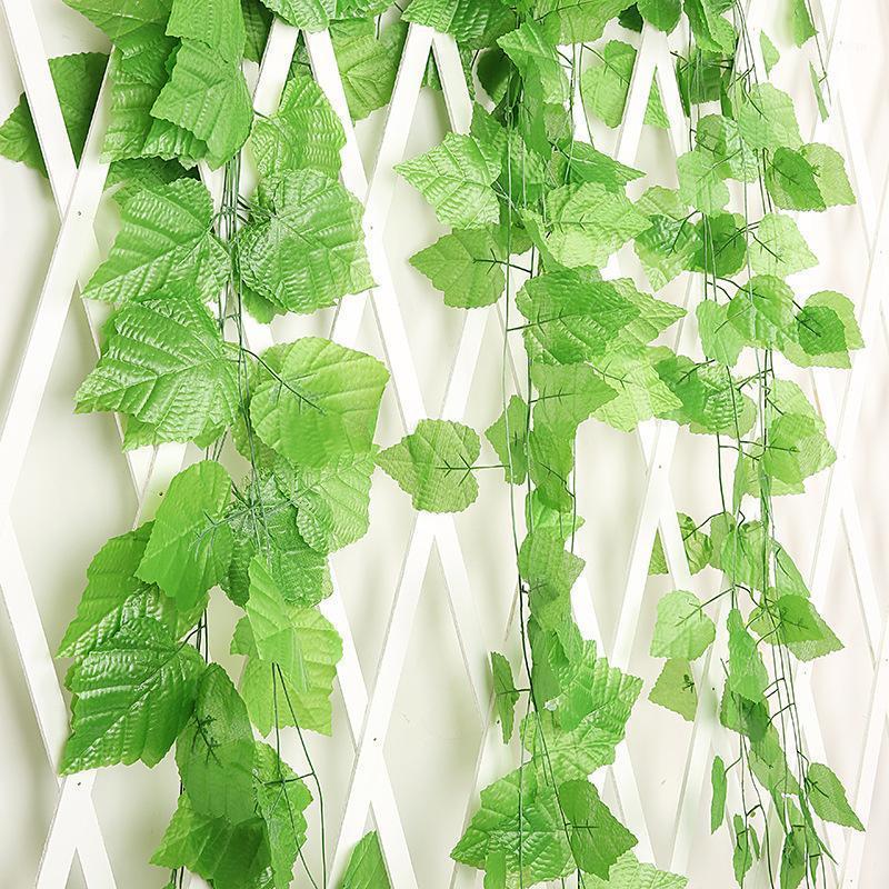 230cm longas plantas artificiais uva videira folha falsa folhas de casamento em casa decoração1