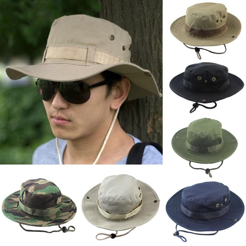 New Bucket Chapéus Outdoor camuflagem na selva Bob Camo Bonnie Hat Pesca Camping Churrasco Cotton Montanha Hat Climbing