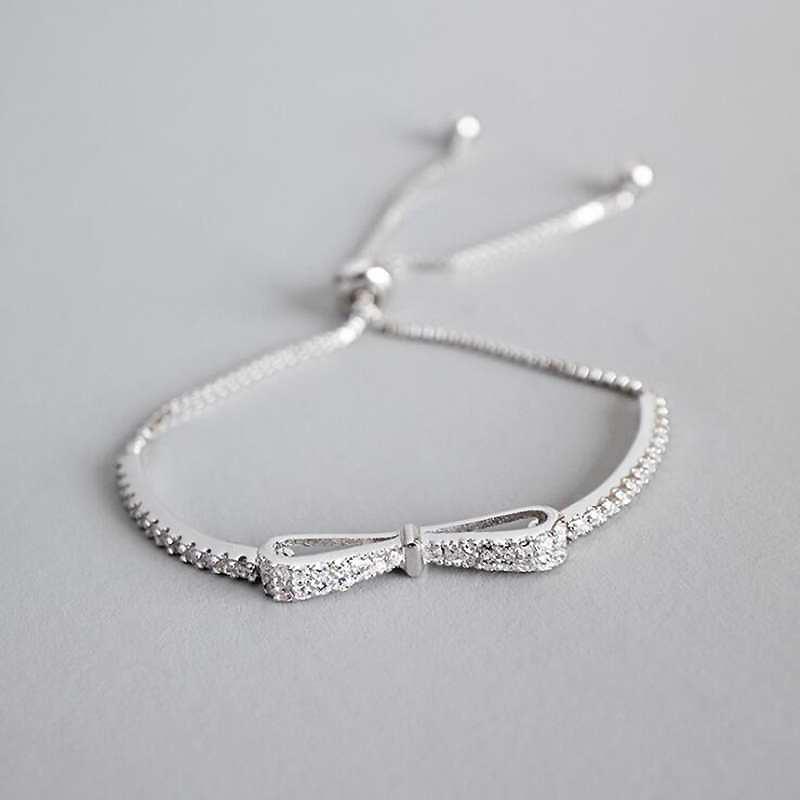 Ruifan Fashion Box Kette Bowknotform 100% 925 Sterlingsilber-Armband-Dame-KubikZircon Armband für Mädchen-Frauen Ybr057 Y19051603
