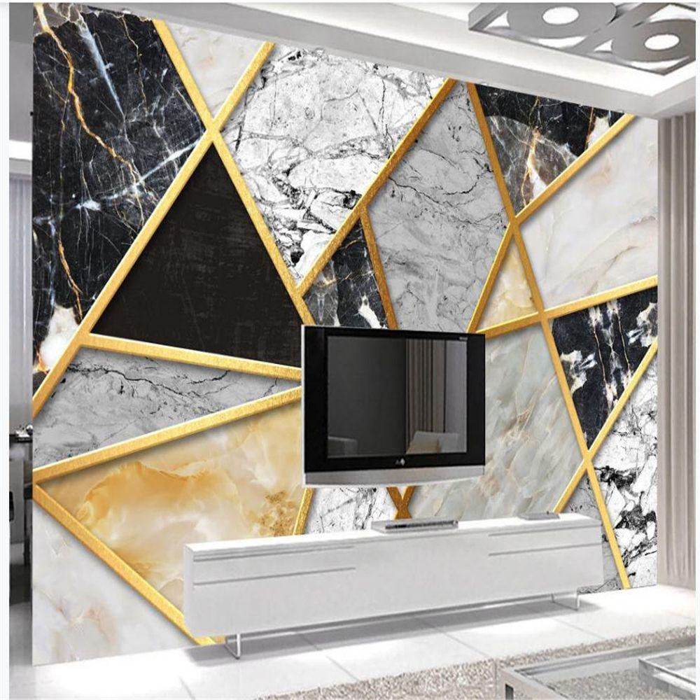 papel de parede clássico para paredes Modern mármore minimalista abstrata 3D estereoscópico papel de parede