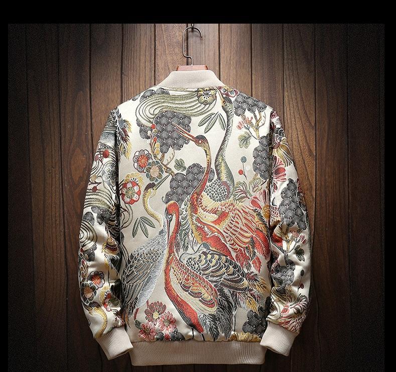 Livraison Gratuite Automne et hiver Brodé Jacket Jacket HIP HOP Streetwear Jacket Top M-5XL