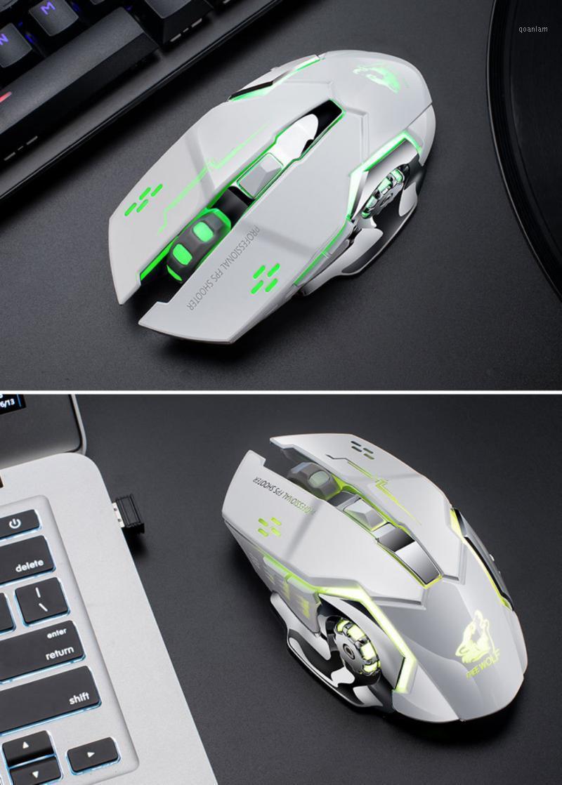 USB 1800DPI 2.4GHz sem fio carregamento recarregável mouse piscando top backlight ratos para pc computador jogos mouse1