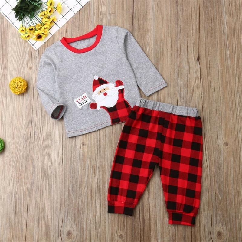 Pudcoco Bebek Kız Erkek Giysileri Yenidoğan Kadın Kıyafet Bebek Giyim Için Set İlk Noel Çocuk Noel Suits LJ201223