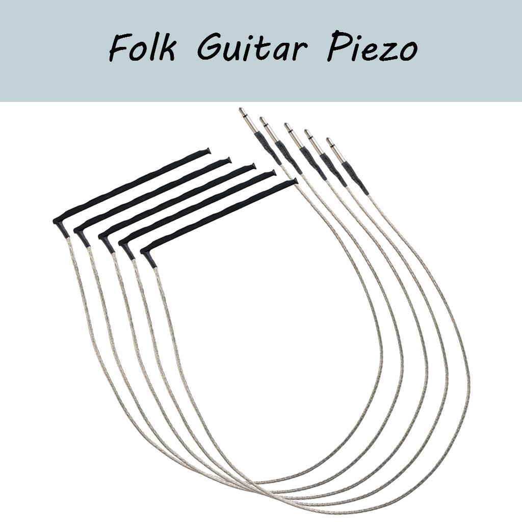 NAOMI 5Pcs Guitar Under-Saddle Piezo Bridge Pickup Piezo For Acoustic Folk Guitar