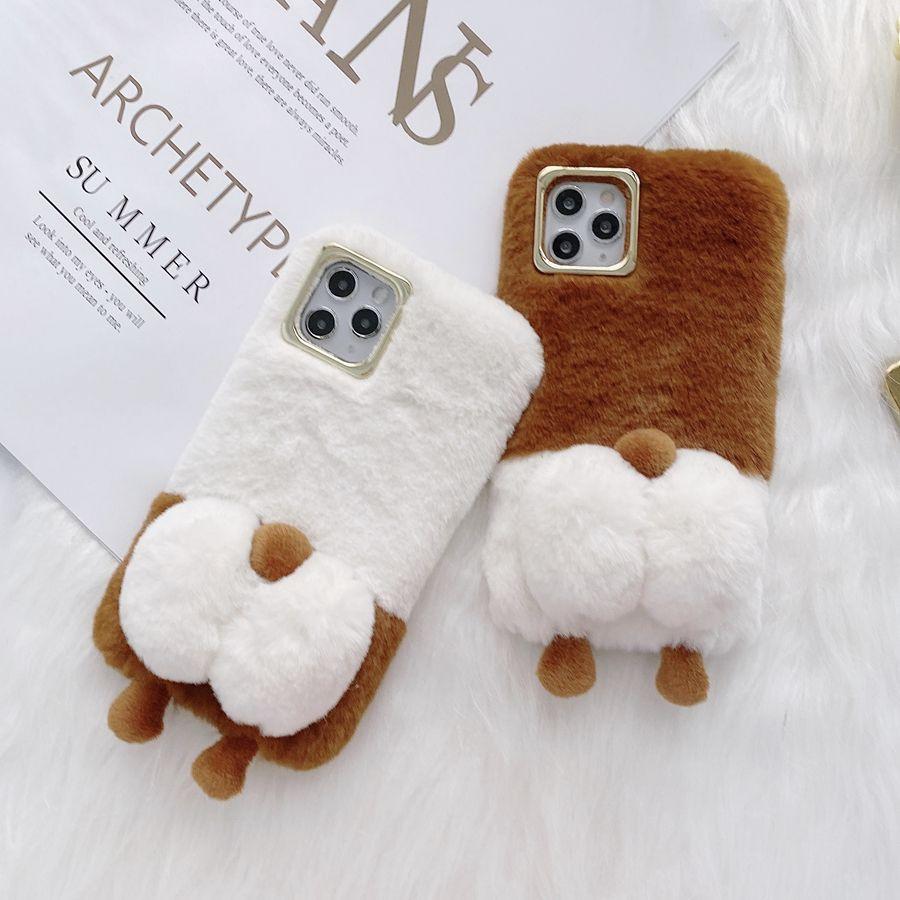 el caso del diseño peludo animal lindo Furrry 12 para el iPhone Mini 12 Pro X X max max XR 8 más