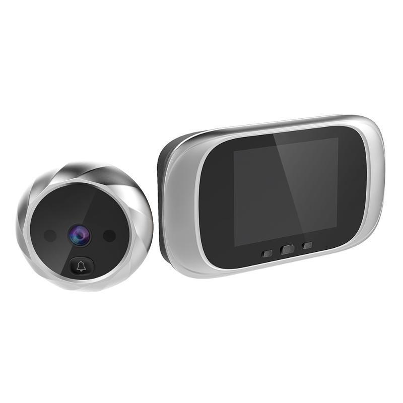 2,8 polegadas LCD a cores de tela Doorbell Digital 90 graus Porta Eye campainha Eletrônico Peephole porta Visualizador de Câmera ao ar livre de Bell