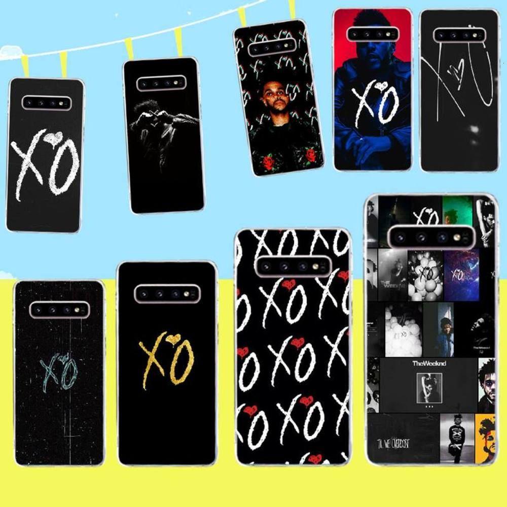 Penghuwan Der WeekND XO Soft Black Phone Case für Samsung S9 Plus S5 S6 S7 Rand S8 S10 Plus