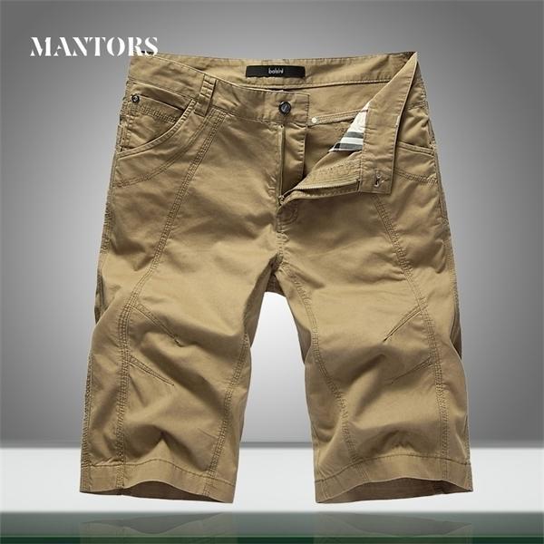 2020 Verão New Men Militar Shorts Casual Joelho Loxo Comprimento Mens Carga Tactical Shorts Workout Ginásio Calças curtas Sólidas Masculino 1027
