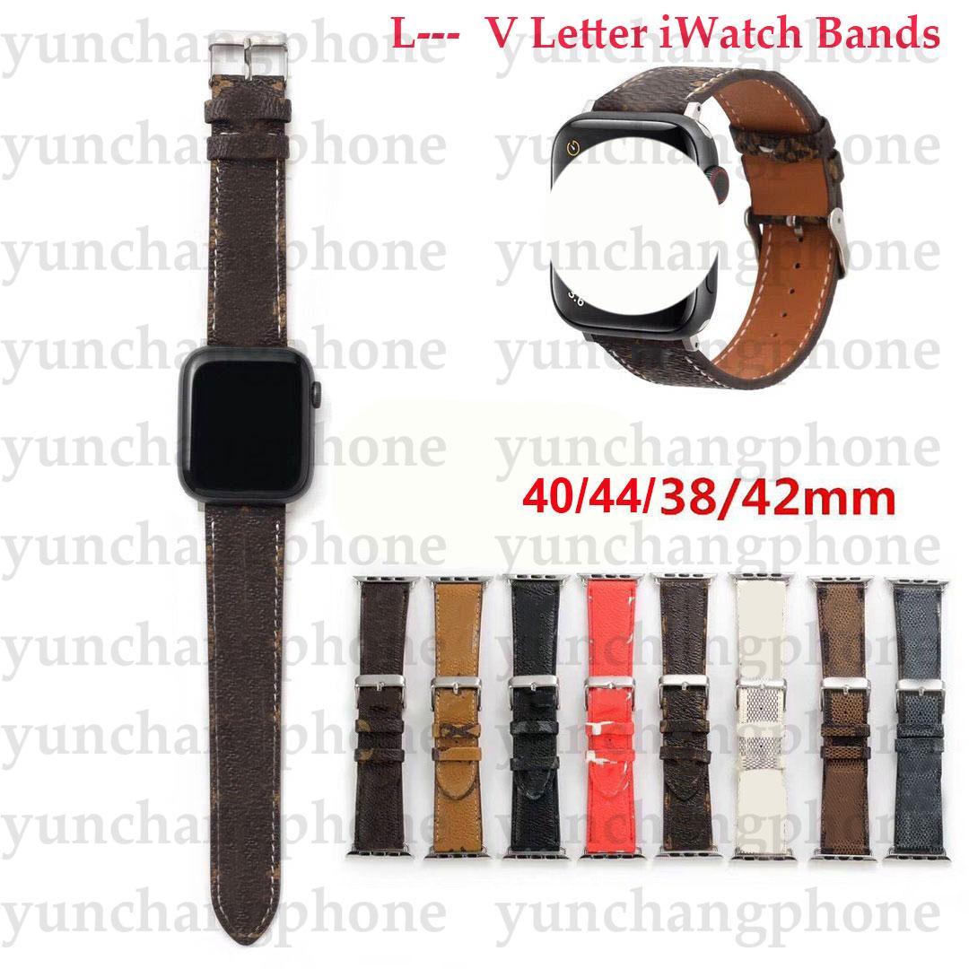 Apple Watch Bant Mektubu Deri Için Apple İzle Kayışı 38mm 40mm 42mm 44mm Sapanlar Için IWatch 6 5 4 3 2 Kayış