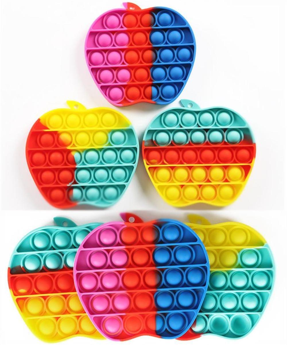 Nouveau Pop Fidget Toy Sensory Push Poussoir POP Bubble Fidget Sensory Jouet Decompression Jouet Toy Spécial Besoins Spéciales Anxiety Stress Stress Strifon pour enfants Adultes