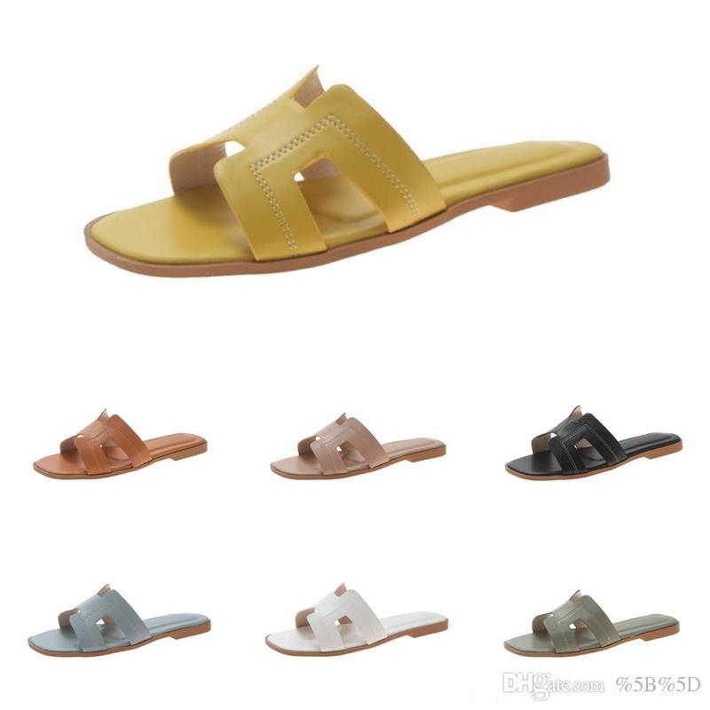 Ylqh Sandalen SchuheWomens Sommer Mode Wear 2020 Neue Flache Bodenschuhe Hausschuhe Sandalen Sandalenslippers Strand Schuhewomens Sommer