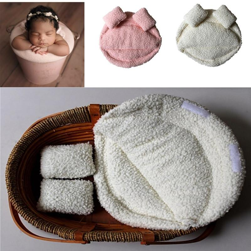 Bebé recién nacido fotografía apoya Posando Almohada Cesta de relleno Contextos el apoyo de la foto Cojín Manta 1028
