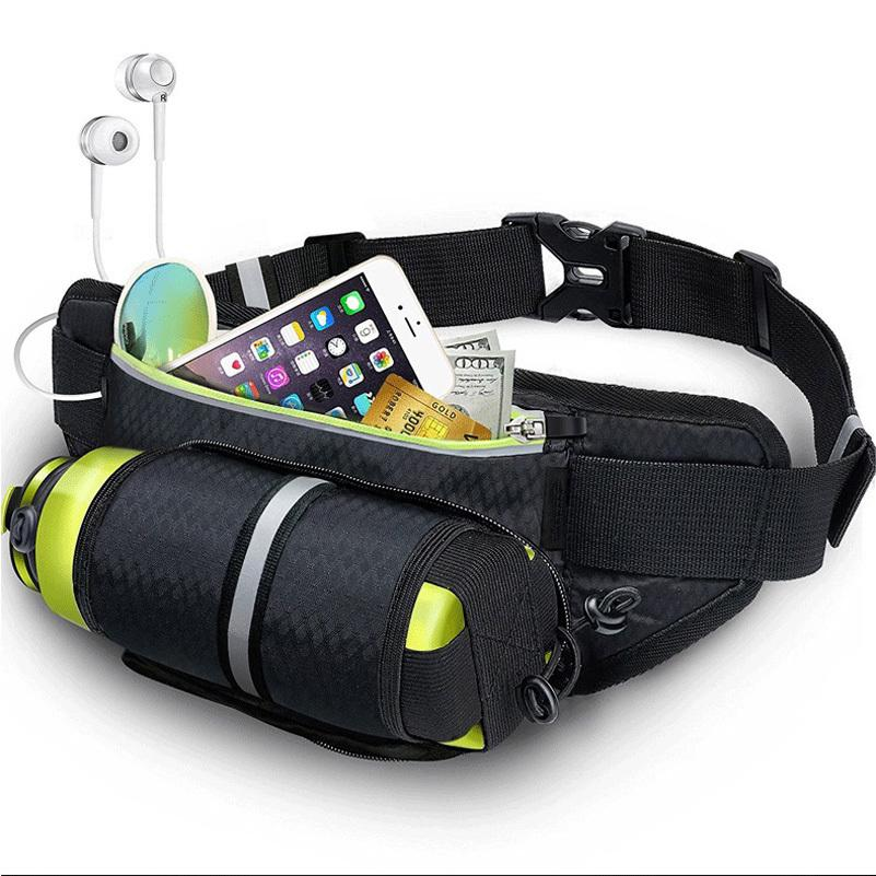 YUYU exterior Correndo cintura com suporte de água impermeável Telefone Jogging Belt Mulheres GymBag de Fitness Sports Bag