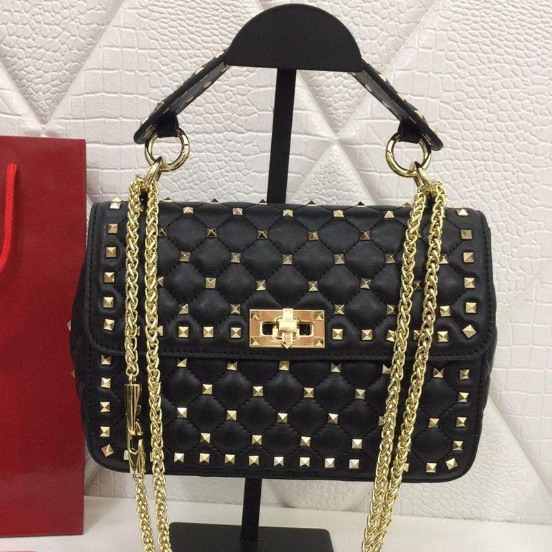 여성의 어깨 가방 핸드백 정품 가죽 지갑 오일 왁스 양모 마름 모형 자수 리벳 분리 핸들 레이디 높은 품질 가방