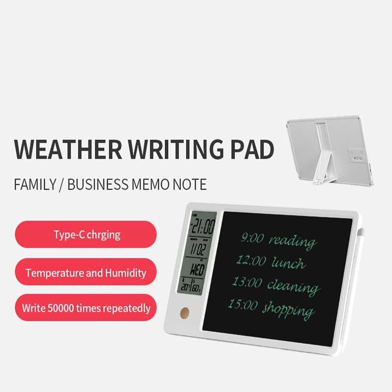 Tablero de escritura a mano multifuncional 10 pulgadas Calendario de reloj LCD Escribir tableta electrónica DIBUJO DIGITAL DIBUJO TEMPORTEMENTE Pantalla