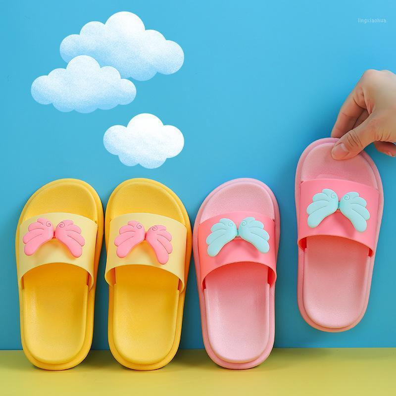 Zapatillas de ala de dibujos animados de suihyung para niña de niño 2020 NUEVO Playa de verano Niños Sandalias Lindo bebé niño zapatos interiores zapatos para niños zapatillas1