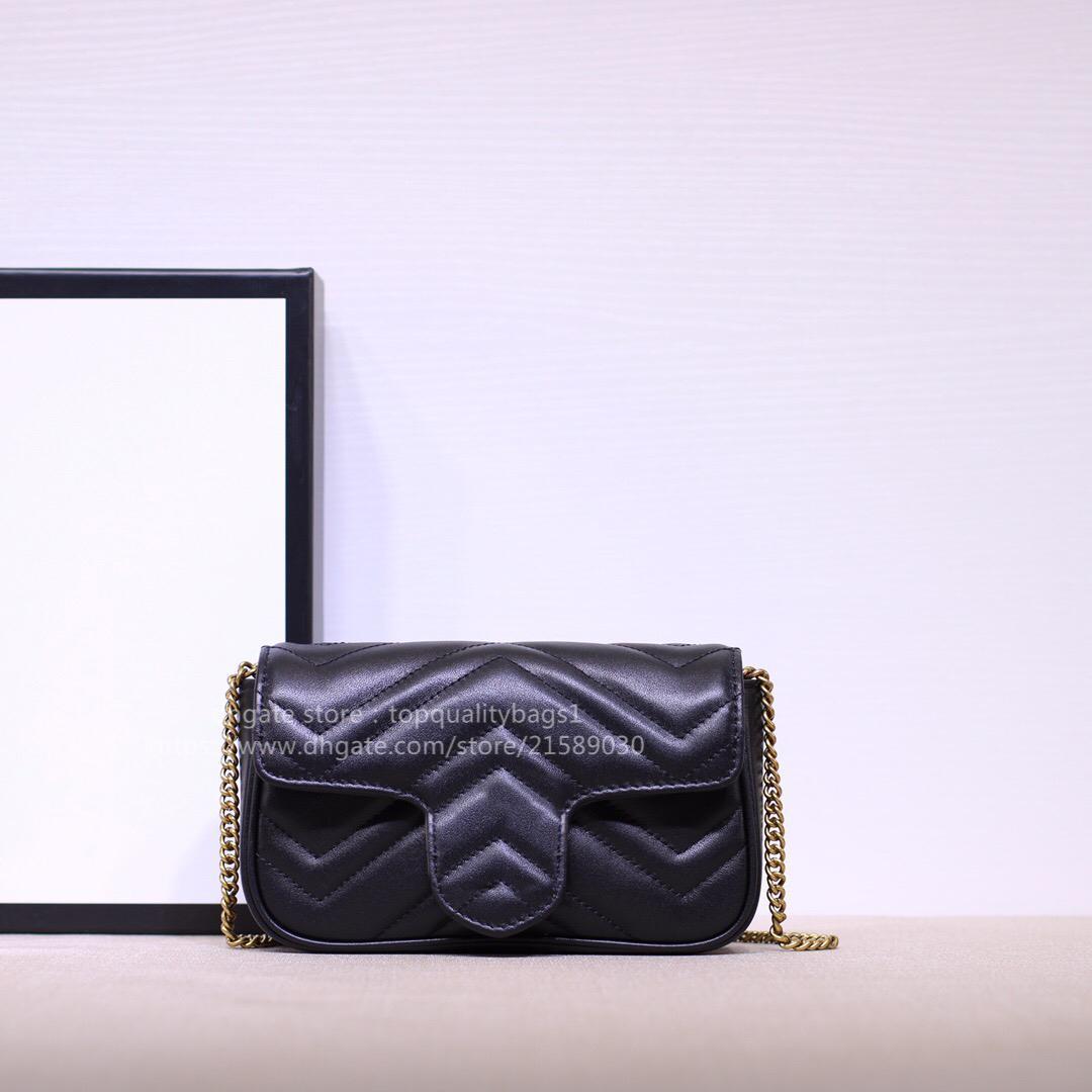2021 New Hot Venduto Fashion Genuine Pelle Pelle Top Quality Borsa a tracolla Donne Donne Classic Letter Key Catena Crossbody Borsa 16.5cm Shipin