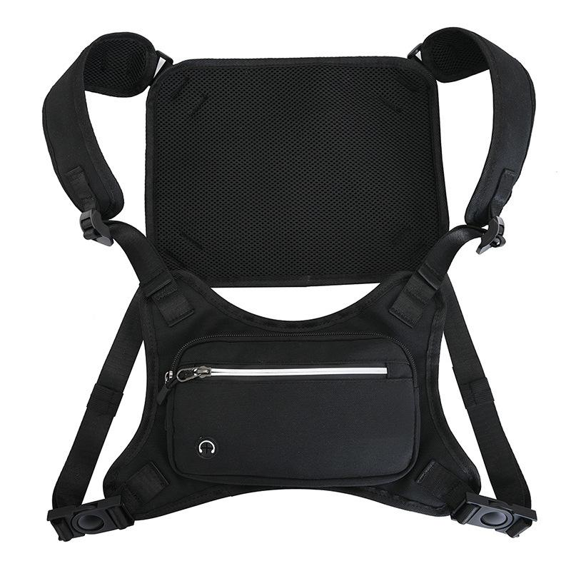 Sports Running Chest Bags Short Trip Waterproof Unisex Tactical Package Cycling Waist Bag Men Vest Backpack Q1221