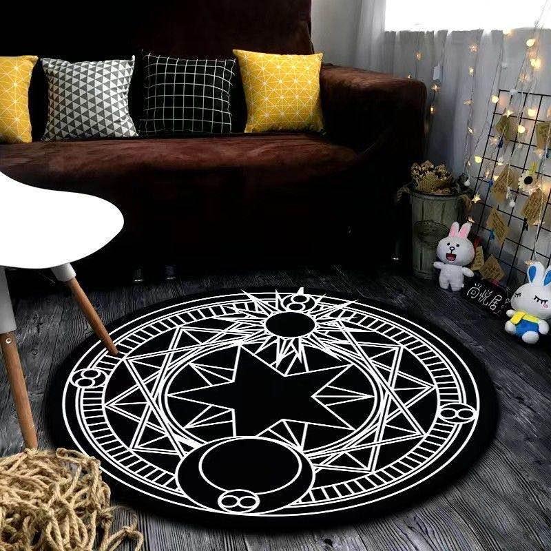 Heiß-Verkauf von Heim Runde Wohnzimmer Mats No-Slip-Letter-Muster Tür Rug Anti-Rutsch-Universal-Qualitäts-Parlor Fuß Teppich Freies Verschiffen