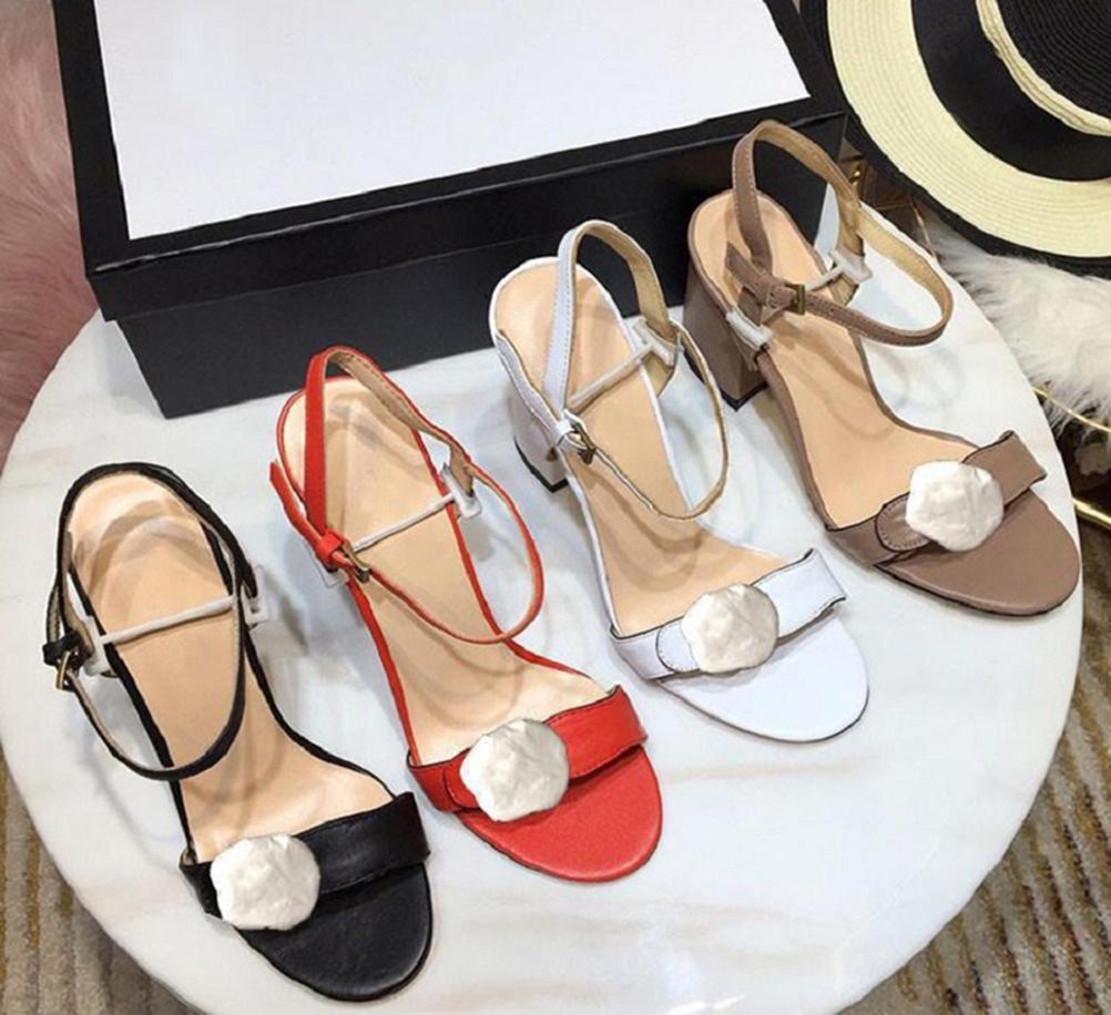 Klassiker Frauen High Heel Sandalen Mode Strand Dicke Boden Hausschuhe Alphabet Dame Sandalen Leder High Heel Slides Schuhe von shoe02 01