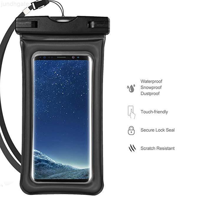 Empresa impermeable Universal Universal Bag Airbag Bolsa de teléfono celular con la función de cordón y pantalla táctil para Sam Sung Teléfono