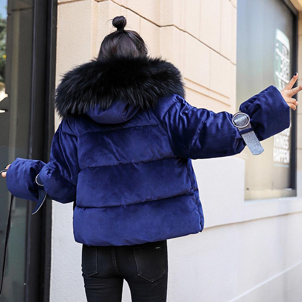 Winter Velvet Jackets Cotton Padded Jacket Women Parka Warmness Korean Fashion Casual Black Short Coats Oversize Outwear 201015