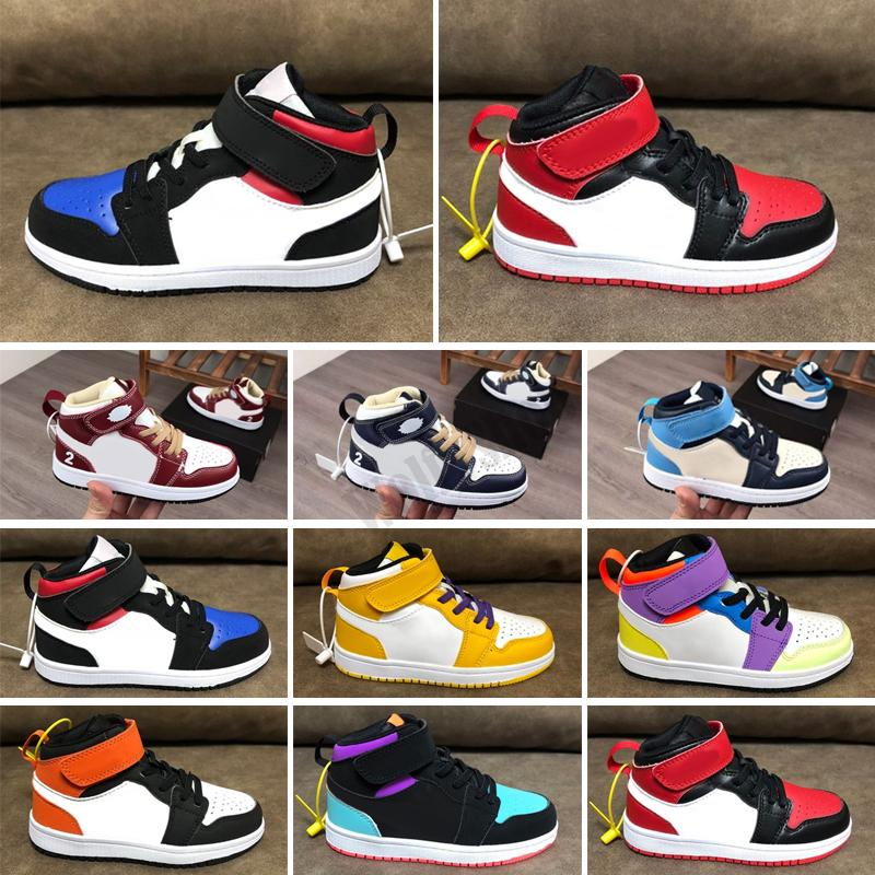 Scarpe per bambini Brown Basso Travis Scotts Bambini Scarpe da basket Pino Game Game Royal 1 High og 1s Sport Sneakers Baby Toddlers Trainer