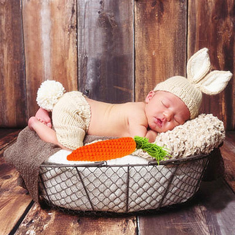Bébé, Vêtements Tenues adorable chapeau + Pantalon Set carotte tricotée bébé garçon Vêtements fille 0-4 mois Les