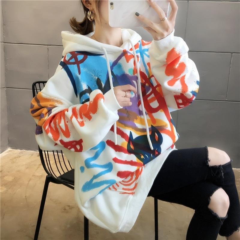 Чистый хлопок хорошего качества Plush утолщенной осень зима свитер Женские пиллинг, не падает вниз, вскользь и универсальный корейский Топ