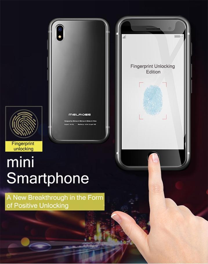 New Super Mini Original Melrose S9 PLUS 4G Lte Smallest Smartphone 32GB 3.4'' MTK6739 QuadCore Android 8.1 Fingerprint ID Student Cellphone