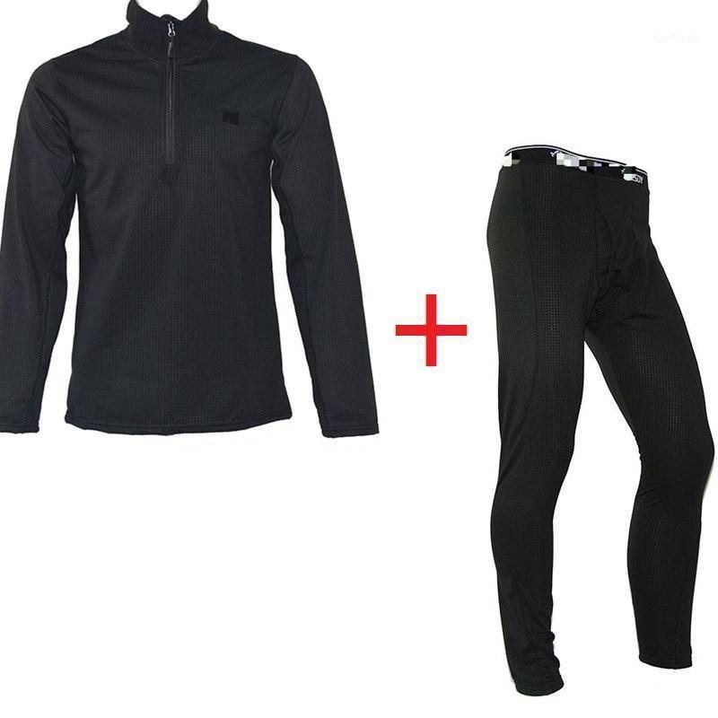 Outdoor Langarm Herbst Winter Armee Fans Polar Fleece Pullover Stormsuit Innenanzug Kaltfest Warm Top + Pants1