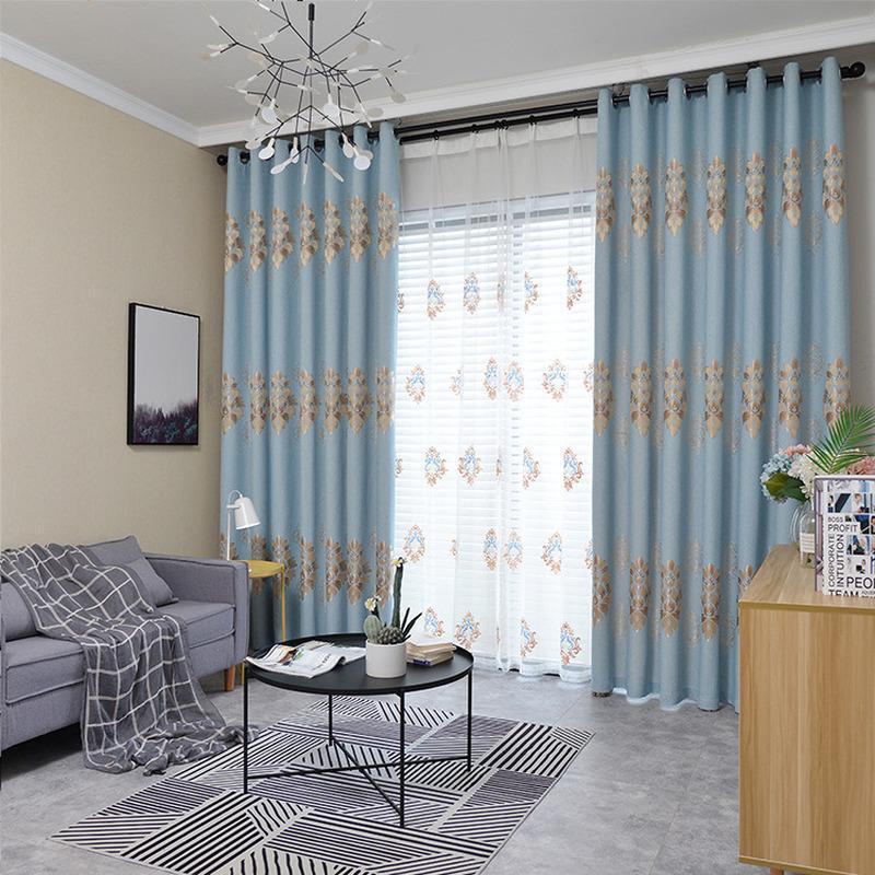 Personalizados nórdicos cortinas opacas cortinas para sala de estar Sala de jantar Quarto Chenille Jacquard Yarn Luxo