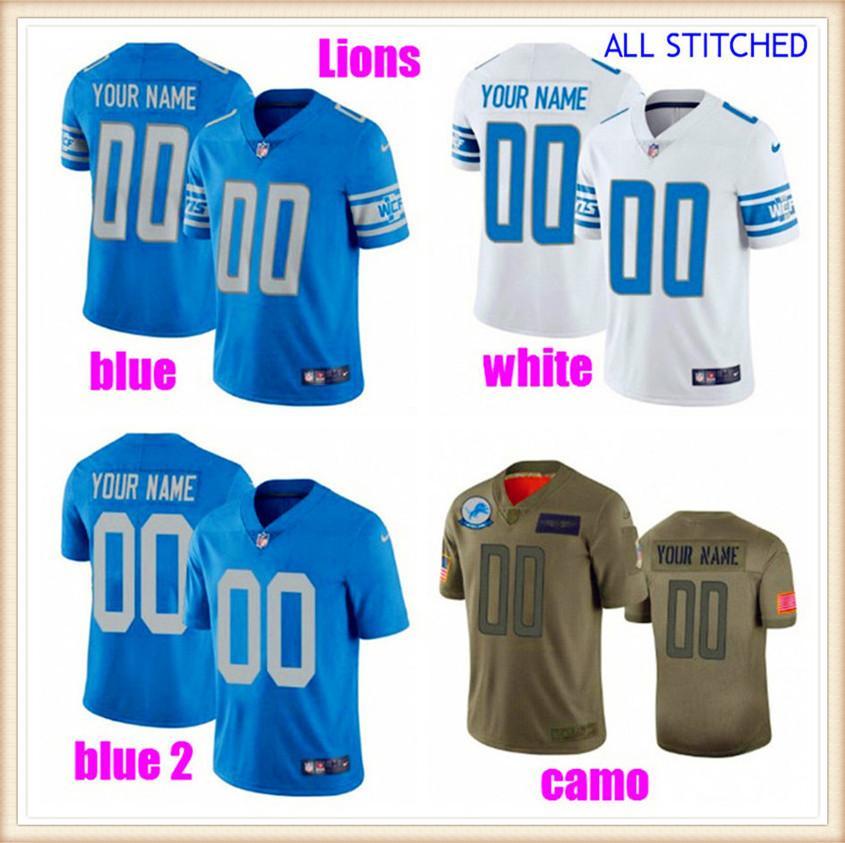 Personalizado American Football Jerseys para Mens Womens Juventude Kids NFC AFC Equipes Autênticas Fãs personalizados 2021 Jersey de futebol Brown 4xL 5XL 6XL