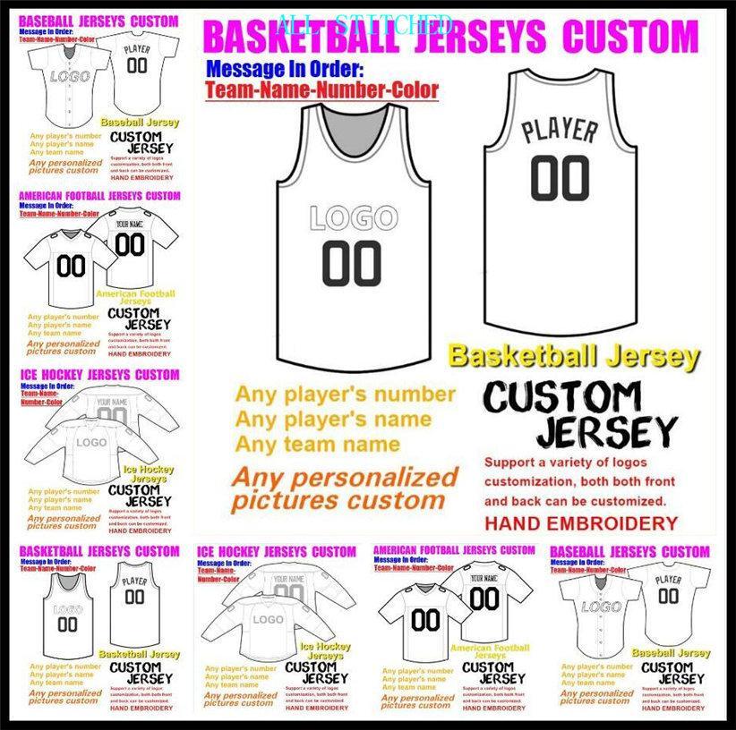 Пользовательские майки на заказ американский футбол для мужских женских молодежь детей бейсбол хоккей хоккея баскетбол цвет ледяной хоккей футбол джерси синий XXXL 4XL 5XL