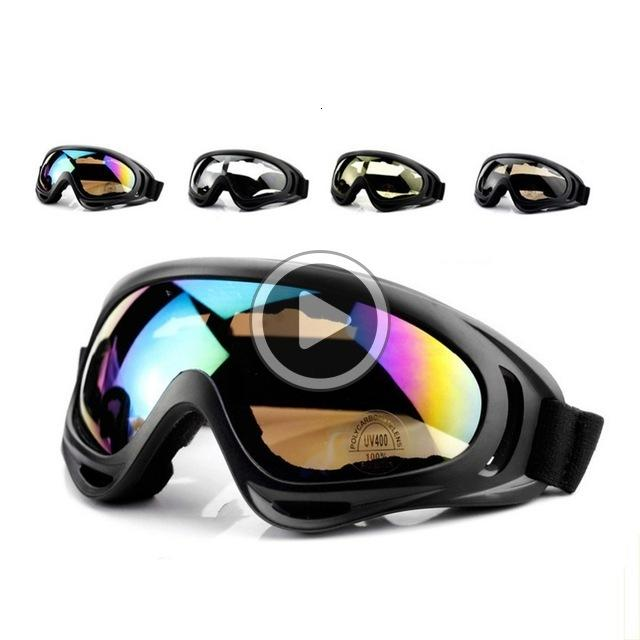 09JB 20pcs Ski Snowboard Goggles Mountain Skiing Eyewear Snowmobile Winter Sport Gogle Snow Glasses UV400 Dustproof Moto Cycling Sunglasses