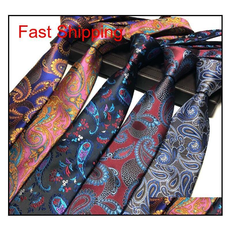 Nuevo diseño para hombre corbata elegante hombre floral paisley corbatas 145 * 8 * 3.8cm Classic Busin Qylswj DH_Seller2010