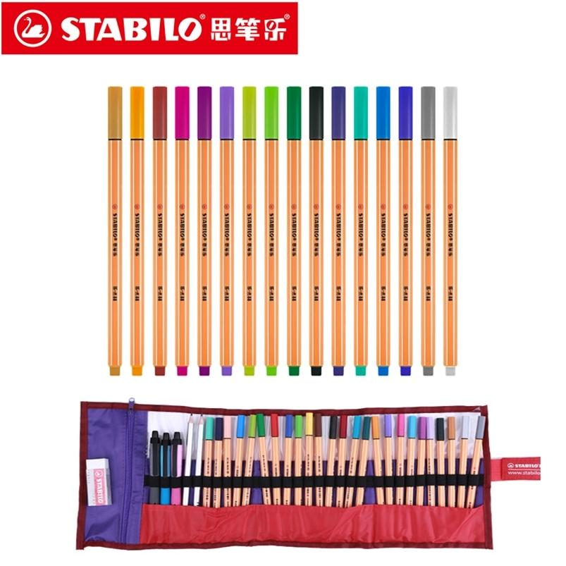 Stabilo Point 88 Artículos de arte de 0.4mm Fibra Pen 25 Colores Aguja Punta Fineliner Manga Diseño Bosquejo, Dibujo 201222