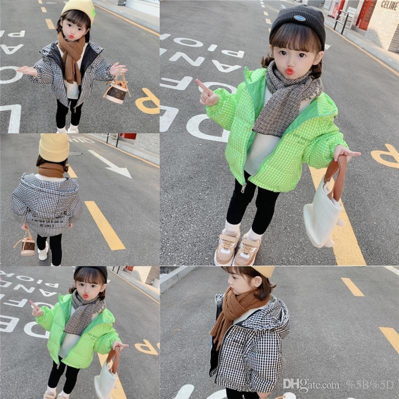 Outfits de moda hce engrossar quente criança comprida para baixo casaco crianças outerwear pele meninas bebê colar jaquetas crianças inverno para jaqueta para baixo