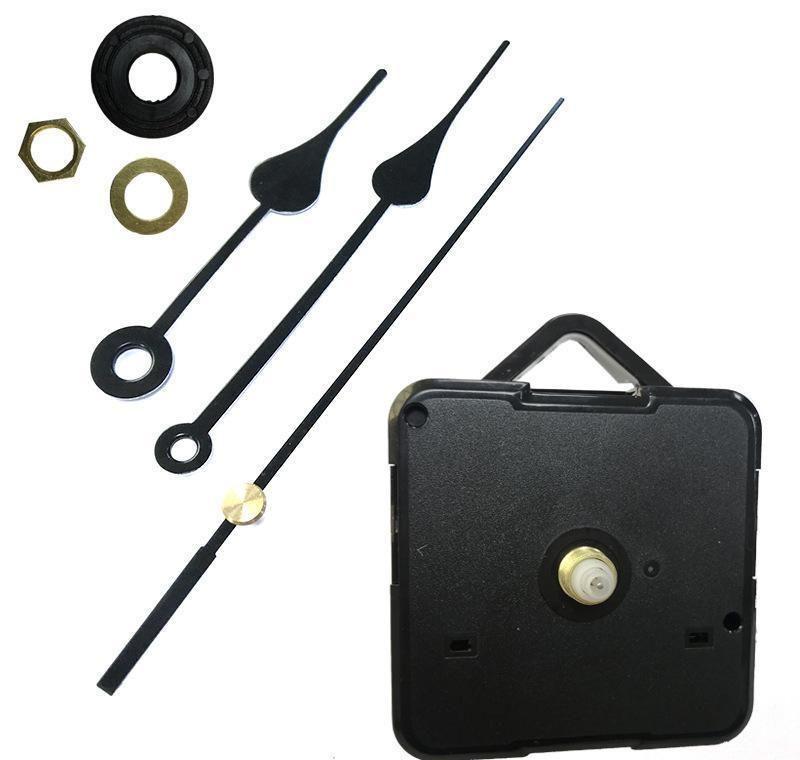 Accueil Horloges DIY Quartz Horloge Mouvement Kit d'horloge Noir Accessoires de broche Mécanisme de broche Réparation avec main Longueur de l'arbre 13 Meilleur sqcnxup