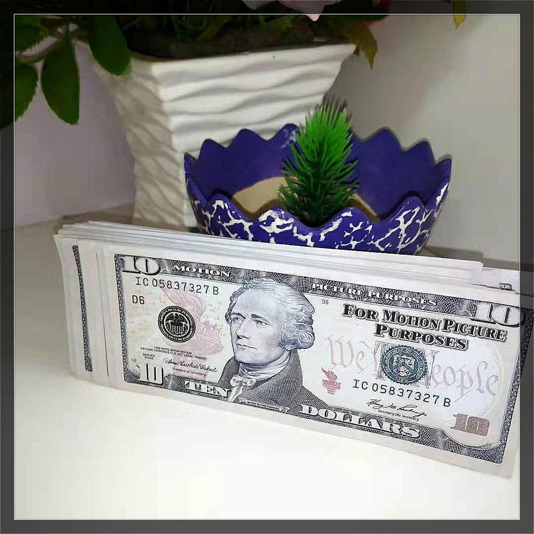 PROP NIÑO 100 UNIDS / PACK PAPEL TOYS BEST COPY MONEY PAPEL MONEY MONEY PROP BANTENO PENDER DÓLAR 10 TDNGQ