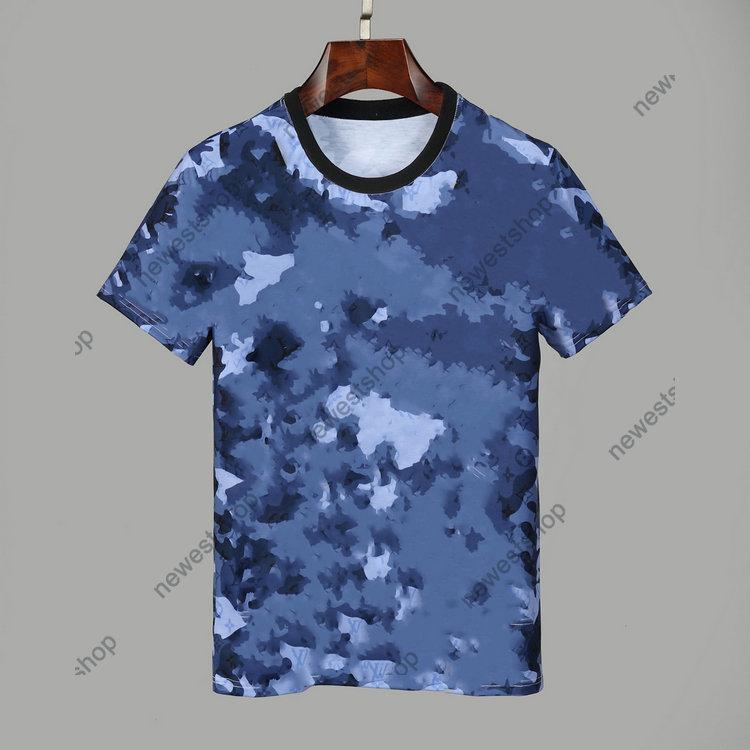 Arrivo estate 2020 Nuovi designer T-shirt da uomo Abbigliamento Tshirt Blue Camo Lettera Stampa Casual T-Shirt Donna Lusso T Shirt Dress TEE Tops