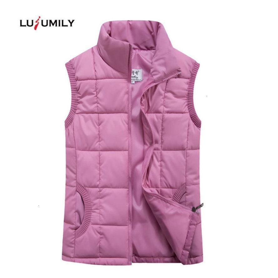 Lusumily 2020 Frauen Warm Plus Size 4xl Ärmel Jacke Weibliches beiläufige Ultra Light Daunenweste Frauen-Weste Outwear